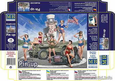 Master Box 1/32, 1/35 Pin-up (6 female figures)