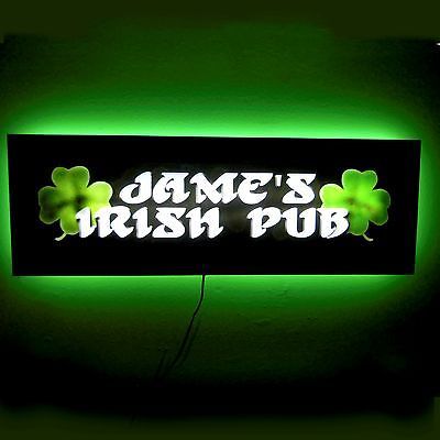 "LIGHTED IRISH PUB SIGN - OVER 25""LONG -PROJECTS BACKLIGHT ON WALL!! Bar sign"