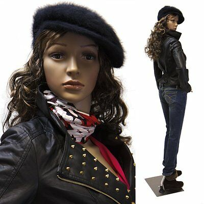 Realistic Standing Lifesize Female Mannequin Store Model + Base & 2 Free Wigs