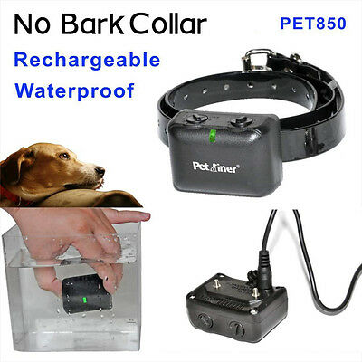 Rechargeable Medium Large Anti Bark Dogs NO-Barking Shock Collars Waterproof US
