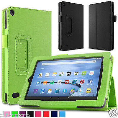 Smart Stand Leather Case Cover For 2015 NEW Amazon Kindle Fire 7'' HD 8'' 10''