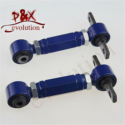 Rear Adjustable Camber Arms Kit for ADJ.C/Arm Honda CIVIC 92-00 Integra EG Blue
