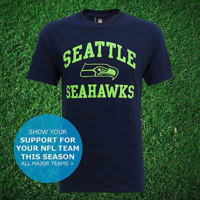 Seattle Seahawks Logo Official T-Shirt USA NFL Super Bowl Football Unisex Top