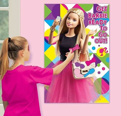 Barbie Sparkle | Bow | Handbag Party Game for 2-48 Players - Pin the Tail