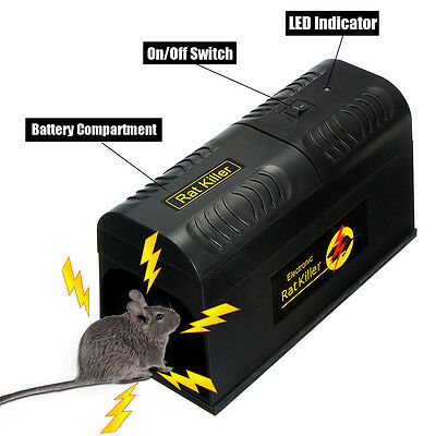 Electronic Mice Rat Killer Rodent Repeller Trap Zapper Pest Control US Plug CE