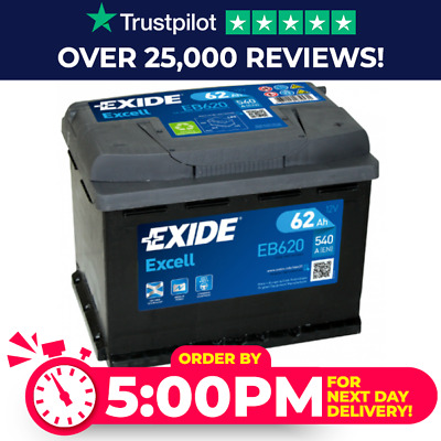 High Power Exide 027SE Car Van Battery EB620 - 3 Year Warranty - Next Day Delive