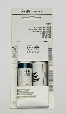 (53,70€/100ml) Opel Lackstift Azurblau 22S 1766126 Azur Blau Lack Pinsel GWJ