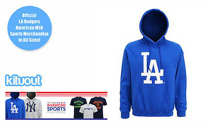 LA Dodgers Logo Official Hoodie USA MLB World Series Baseball Unisex New