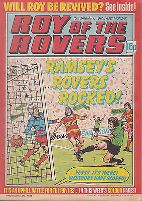 ROY OF THE ROVERS 16-01-1982 Paul Walsh CHARLTON ATHLETIC (Free Postage)