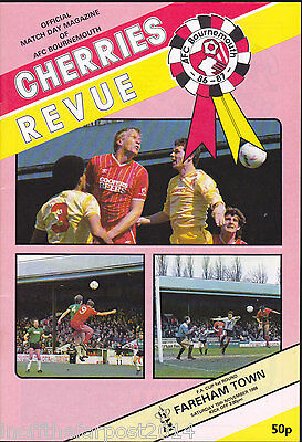 1986/87 BOURNEMOUTH V FAREHAM TOWN 15-11-1986 FA Cup 1st Round