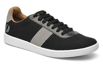 Fred Perry Mens Sebright Canvas Shoes Trainers UK-10 -- B5207-102