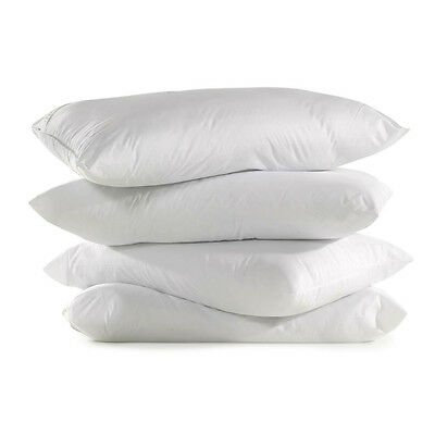 4 x SUPER BOUNCE BACK LUXURY DELUXE PILLOWS - HOLLOW FIBRE FILLED PILLOWS