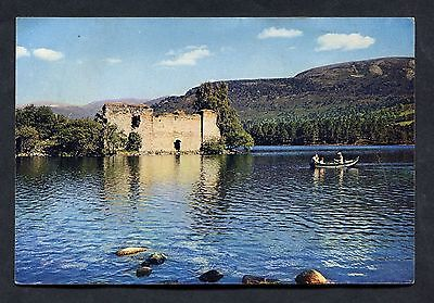 View of the Castle-Loch an Eilean, Aviemore. Posted 1960.