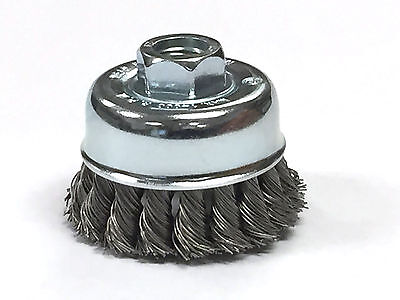 """2-3/4"""" Dia Knot Style Cup Brush - Carbon Steel Wire"""