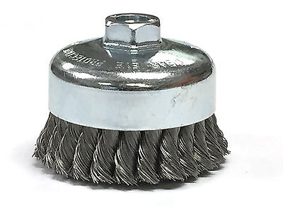 "4"" Dia Knot Style Cup Brush - Carbon Steel Wire"