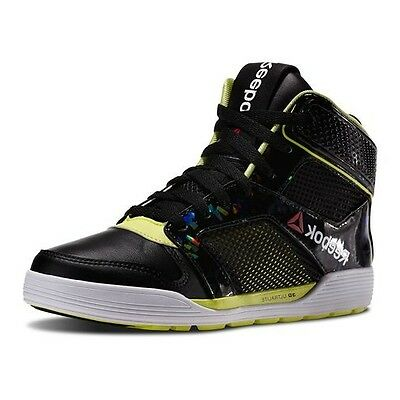 Reebok LES MILLS UNISEX Dance UrTempo Mid Leather Dancing Shoes Black All Sizes