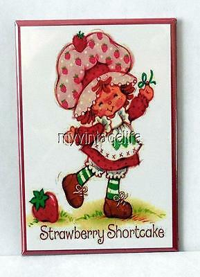 "Vintage CUTE STRAWBERRY SHORTCAKE 2"" x 3"" Fridge MAGNET Art NOSTALGIC"