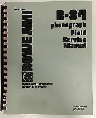 JUKEBOX MANUAL - ROWE R-84 FIELD SERVICE MANUAL- AMR No.473