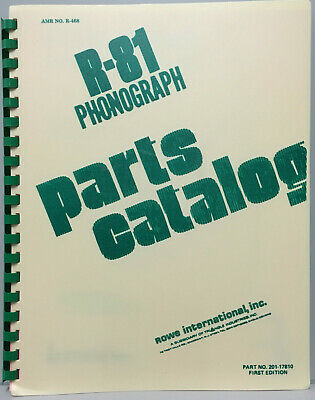 JUKEBOX MANUAL - ROWE R-81 PARTS CATALOG - AMR No.468