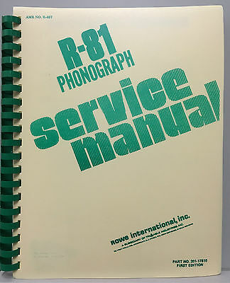 JUKEBOX MANUAL ROWE R-81 SERVICE MANUAL - AMR No.467