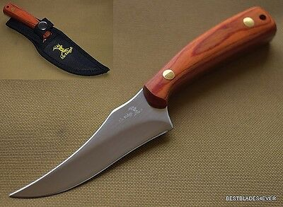 "7"" Overall Elk Ridge Wood Handle Hunting/Skinning Knife Full Tang **Razor Sharp*"