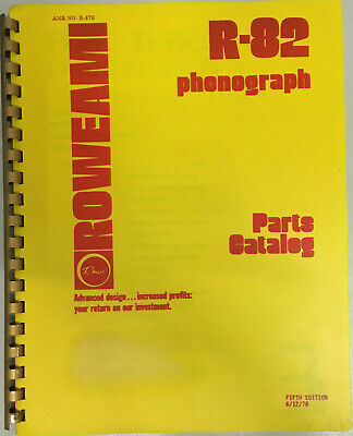 JUKEBOX MANUAL - ROWE R-82 PARTS CATALOG AMR No.470