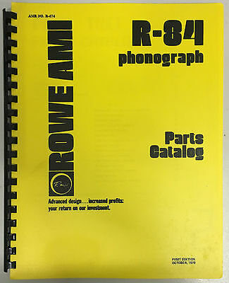 JUKEBOX MANUAL - ROWE R-84 PARTS CATALOG AMR No.474