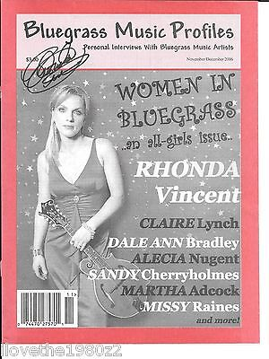 Rhonda Vincent  Country Music Autographed / Signed Cover
