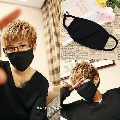 2Pcs Unisex Cycling Anti-dust Cotton Black Mouth Face Mask Outdoor Respirator