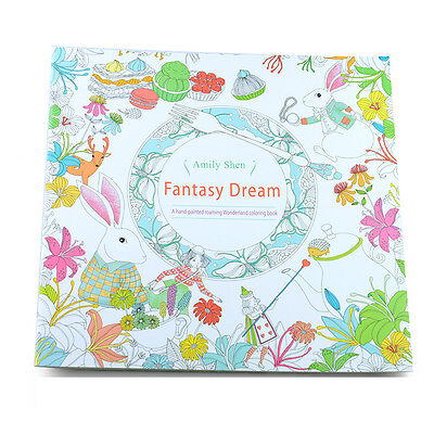 C6 US Newest Child Adult Fantasy Dream In Art Therapy Colouring Painting Books