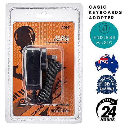 Casio Power Adaptor AD95BP For Casio Keyboards AD95 9.5 Volts 1 amps 1000 mA