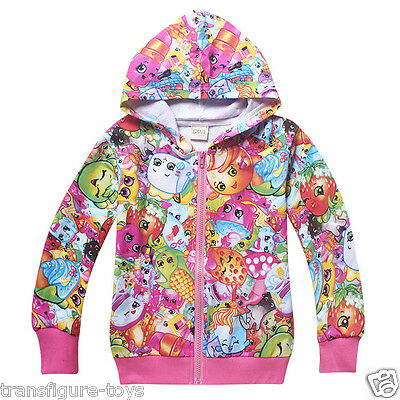 kids girls SHOPKINS clothing top hoodie thin jacket tracksuit outfit size 6-10