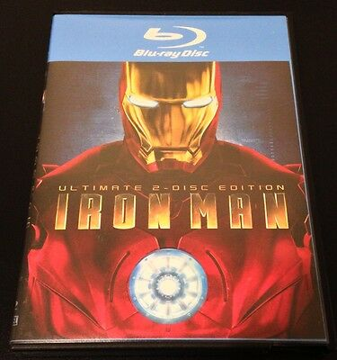IRON MAN Ultimate 2-Disc Blu-Ray 2008. Disc #1 is The RECALLED, GRAY Disc! Rare!