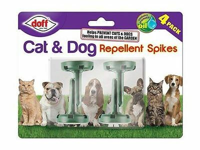 Doff 2 In 1 Cats & Dogs Repellent Spikes Odour Dog Cat Fouling Poo Preventor 4Pk
