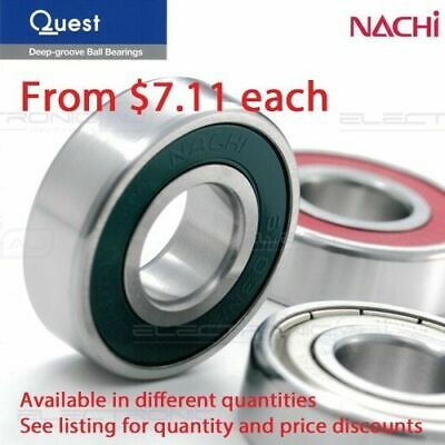 6004-2RS (Nachi 6004-2NSE9CM) Deep Groove Ball Bearing Two contact seal 20x42x12