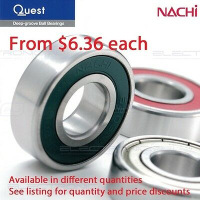 6203-2RS (Nachi 6203-2NSE9CM) Deep Groove Ball Bearing Two contact seal 17x40x12