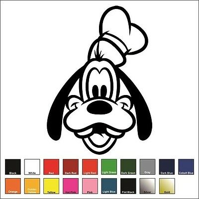 Goofy Sticker / Decal - Choose Color & Size - Walt Disney Mickey Mouse Disneyana