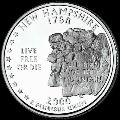 "2000 P New Hampshire State Quarter New U.S. Mint ""Brilliant Uncirculated"""