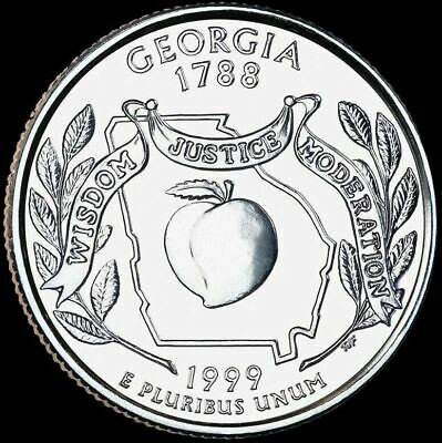 "1999 P Georgia State Quarter New U.S. Mint ""Brilliant Uncirculated"""