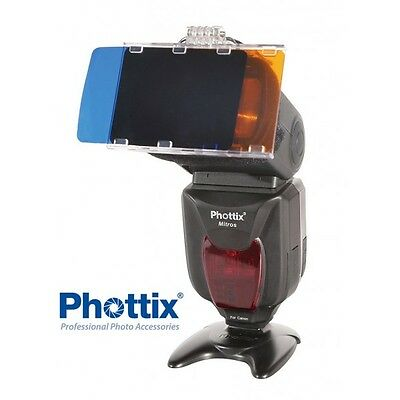 Set Phottix de 30 filtros de color en gel para flash de zapata