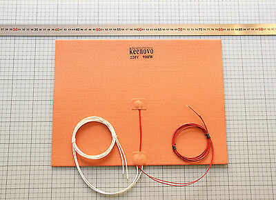 30X40cm 900W 220V Silicone Heater 3D Printer HeatBed Build Plate Heating Element