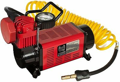 MasterFlow MF-1050 Air Compressor Powerful 12 Volt Motor Inflates Tires Quickly