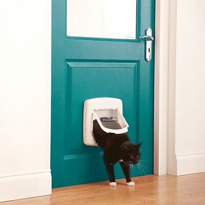 Staywell Cat Door 4 Way Locking with White Tunnel