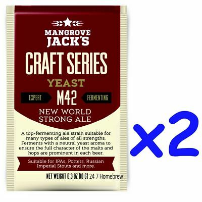 2x Mangrove Jack's Craft Series Yeast M42 New World Strong Ale (10g)