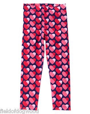 NWT Gymboree Valentine's Day Heart Legging 4 5 7 8 10 12 Fun at heart Girls