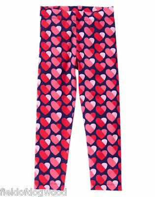 NWT Gymboree Valentine's Day Heart Legging 5 7 8 10 12 Fun at heart Girls