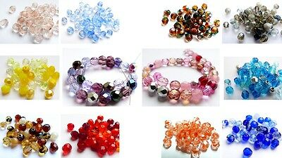 6Mm Czech Fire Polished Firepolished Cut Glass Round Beads - Pack Of 50