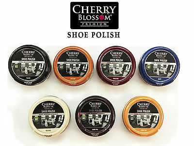 Cherry Blossom Shoe Polish 50ML For Smooth Leather Shoes/Boots 7 Colours