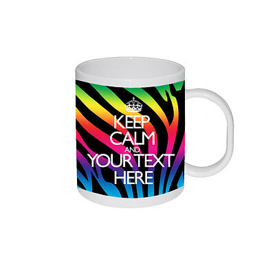 Retro Personalised Mug Custom Gift Coffee Birthday Photo Text Design Keep Calm