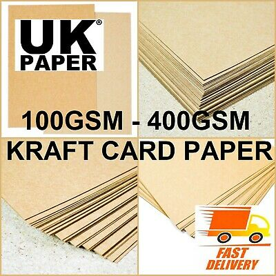 A4 A5 Brown Kraft Card Blanks Stock Natural Paper Recycled 4 Craft Weddings Tags
